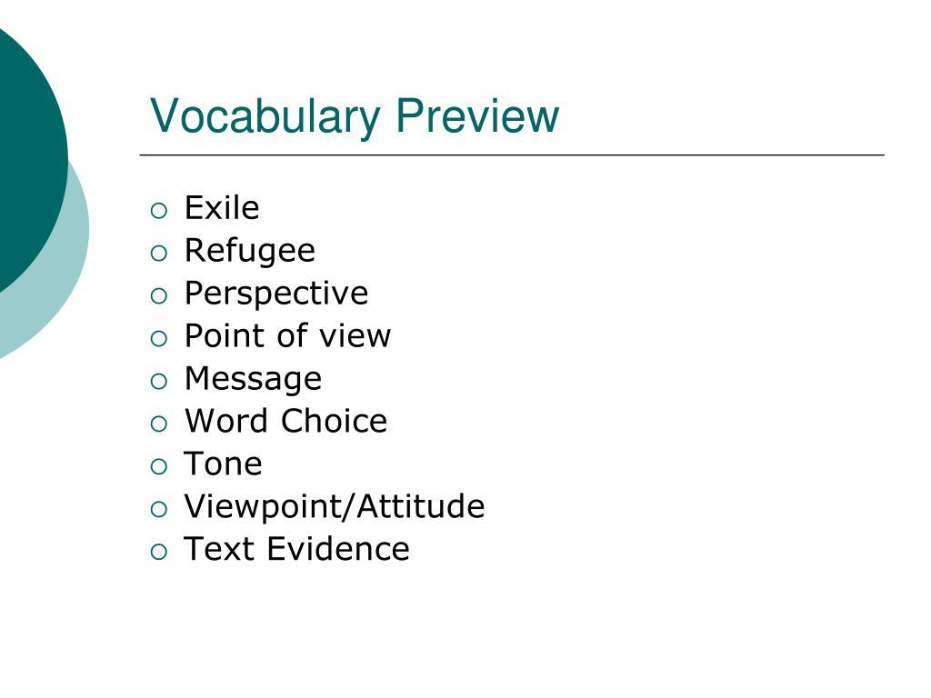 Vocabulary Preview