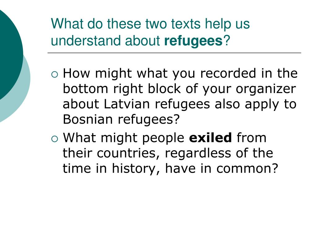 What do these two texts help us understand about