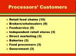 processors customers