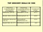 top grocery deals in 1999