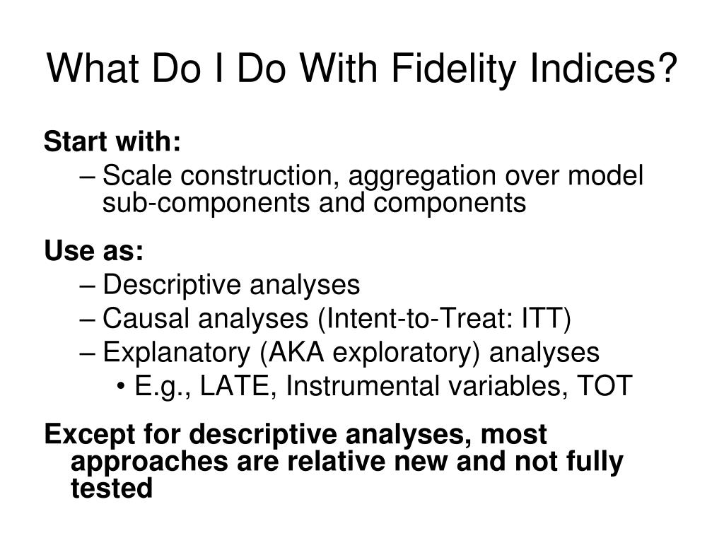 What Do I Do With Fidelity Indices?