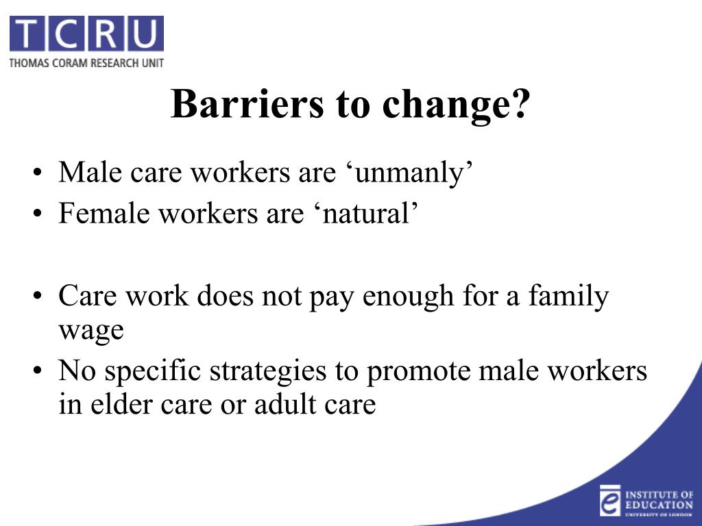 Male care workers are 'unmanly'