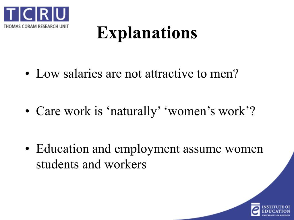 Low salaries are not attractive to men?