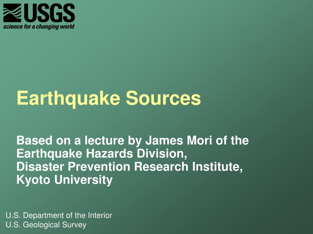 earthquake sources l.