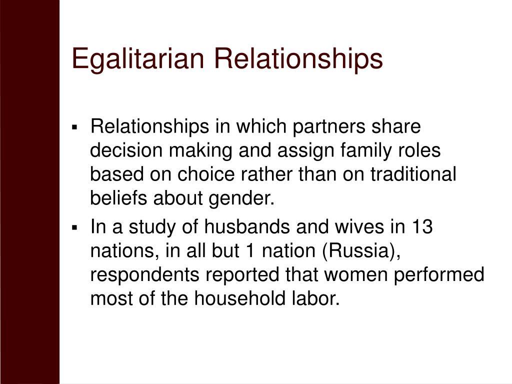 Egalitarian Relationships
