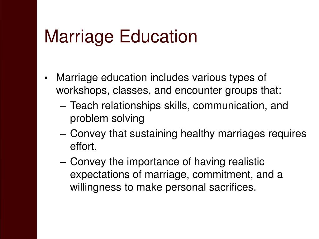Marriage Education