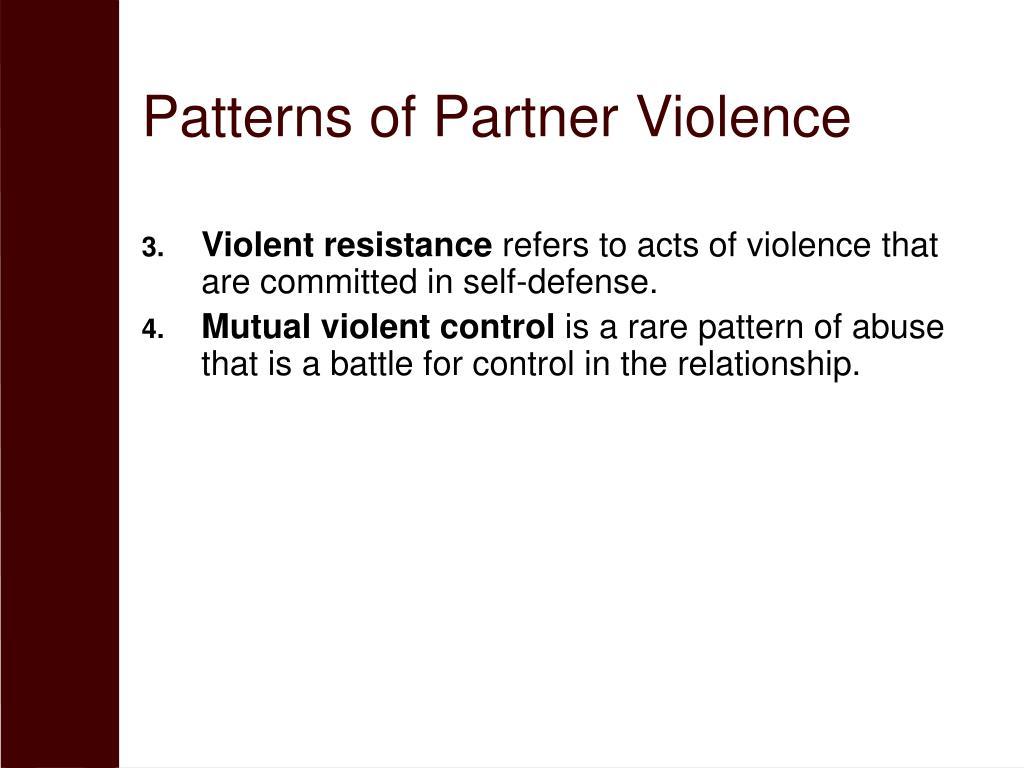 Patterns of Partner Violence