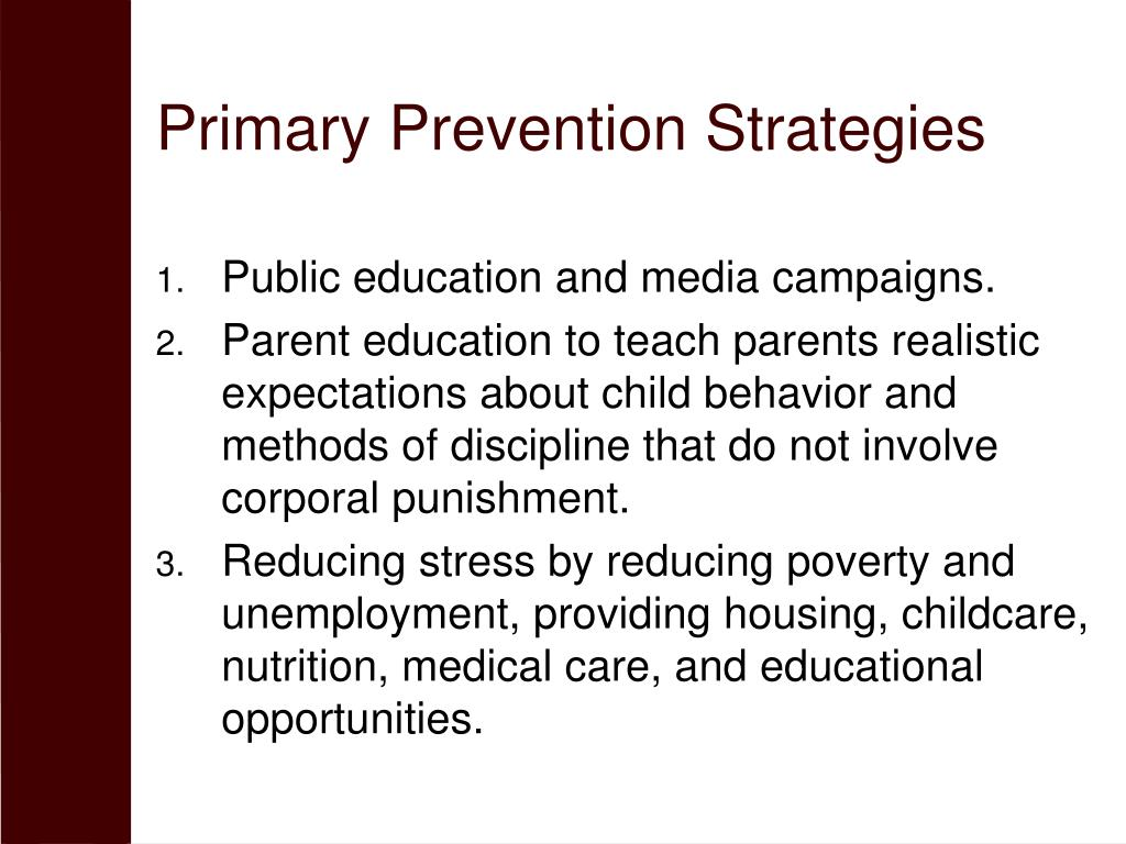 Primary Prevention Strategies