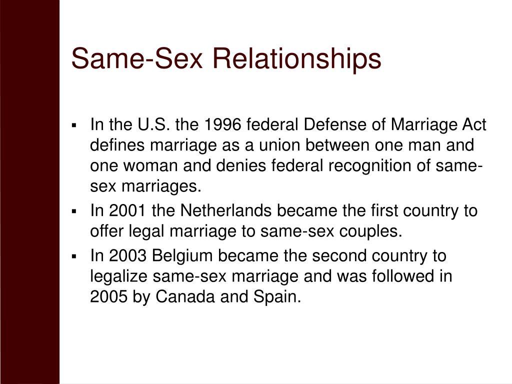 Same-Sex Relationships
