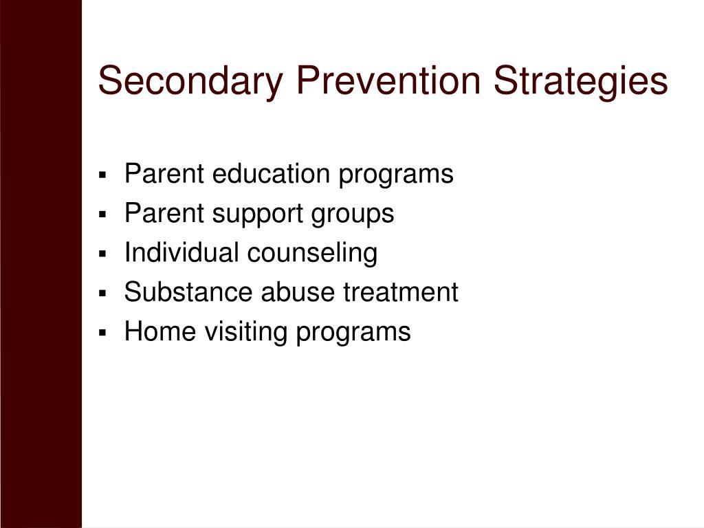 Secondary Prevention Strategies