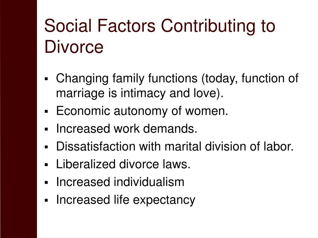 Social Factors Contributing to Divorce