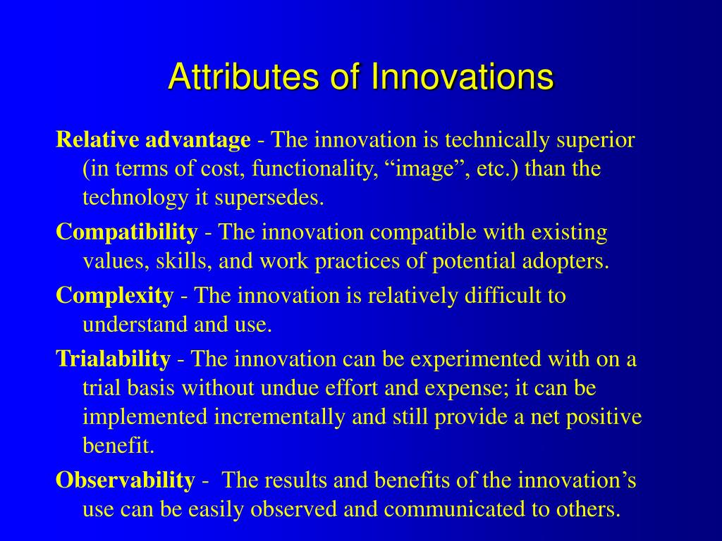 Attributes of Innovations