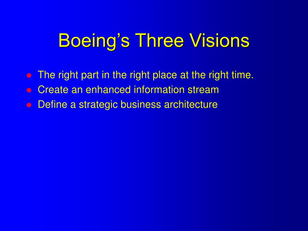 Boeing's Three Visions
