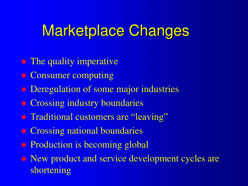 Marketplace Changes