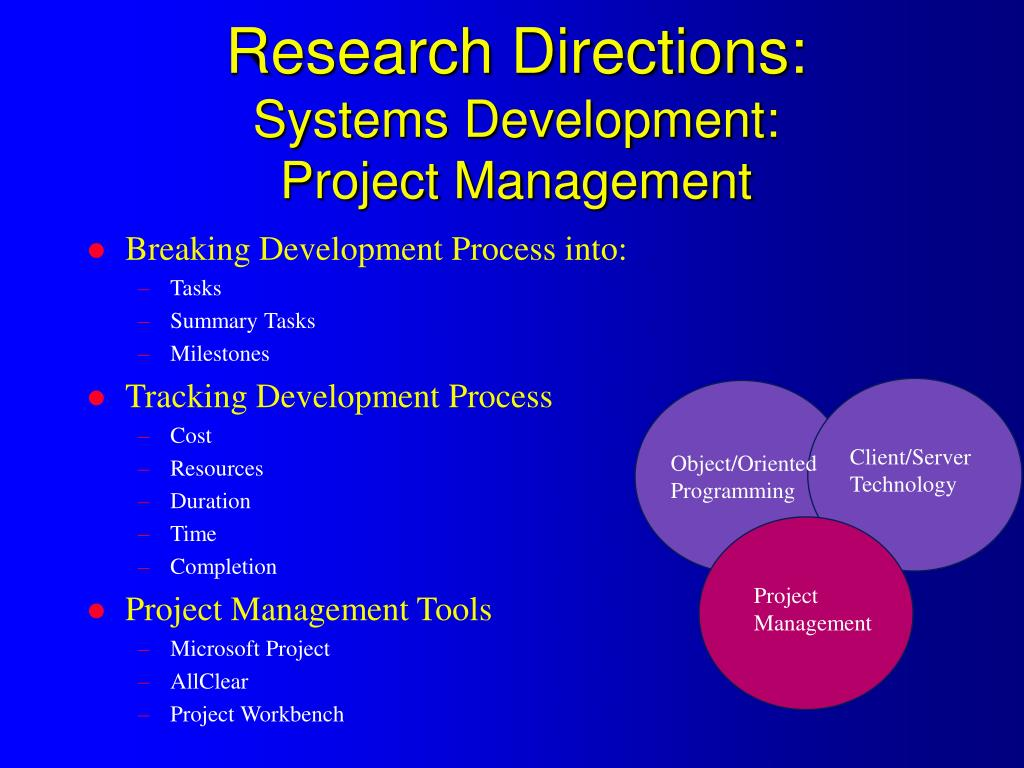 Research Directions: