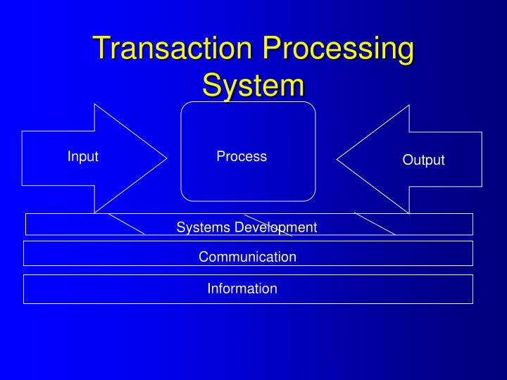 Transaction processing system
