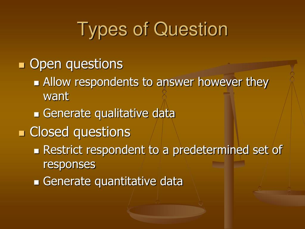 Types of Question