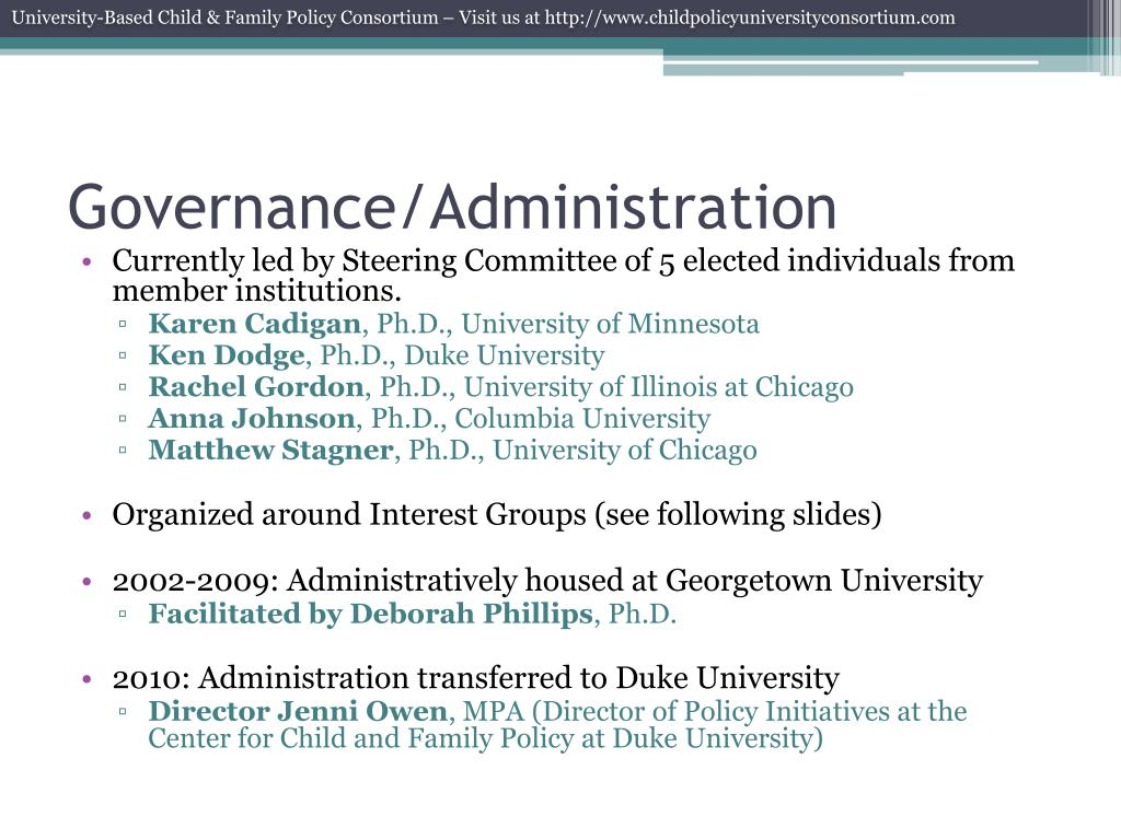 Governance/Administration