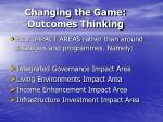 changing the game outcomes thinking
