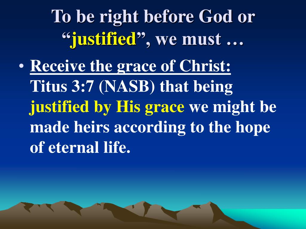 """To be right before God or """""""