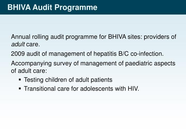 Bhiva audit programme