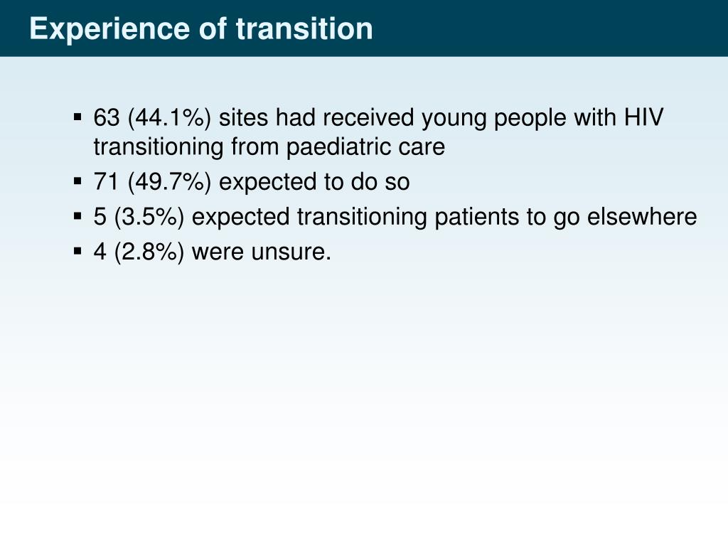 Experience of transition
