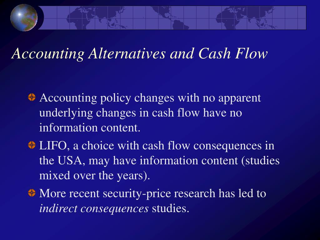 Accounting Alternatives and Cash Flow