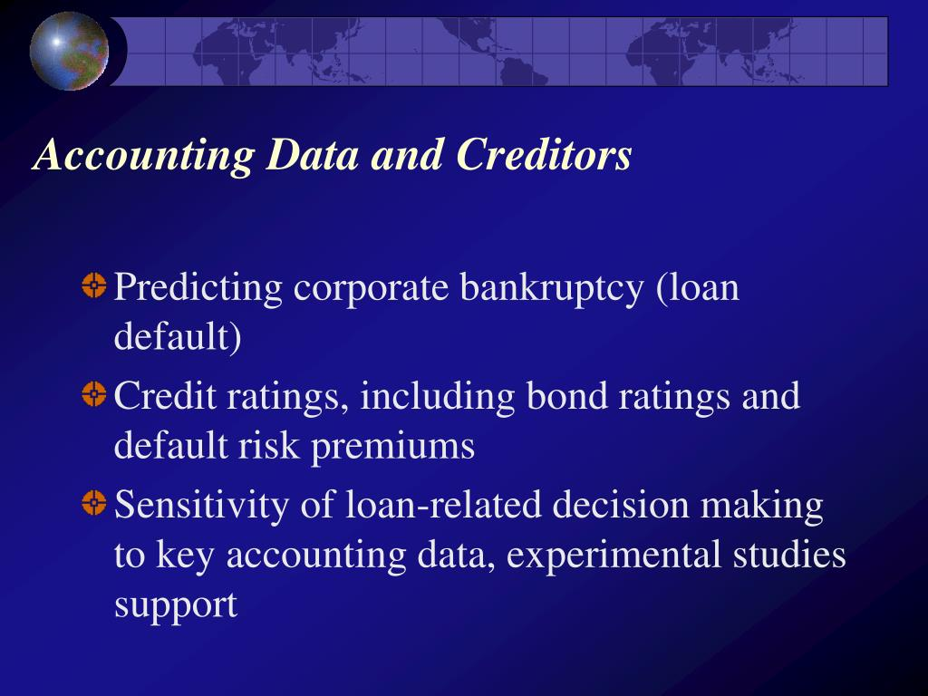 Accounting Data and Creditors