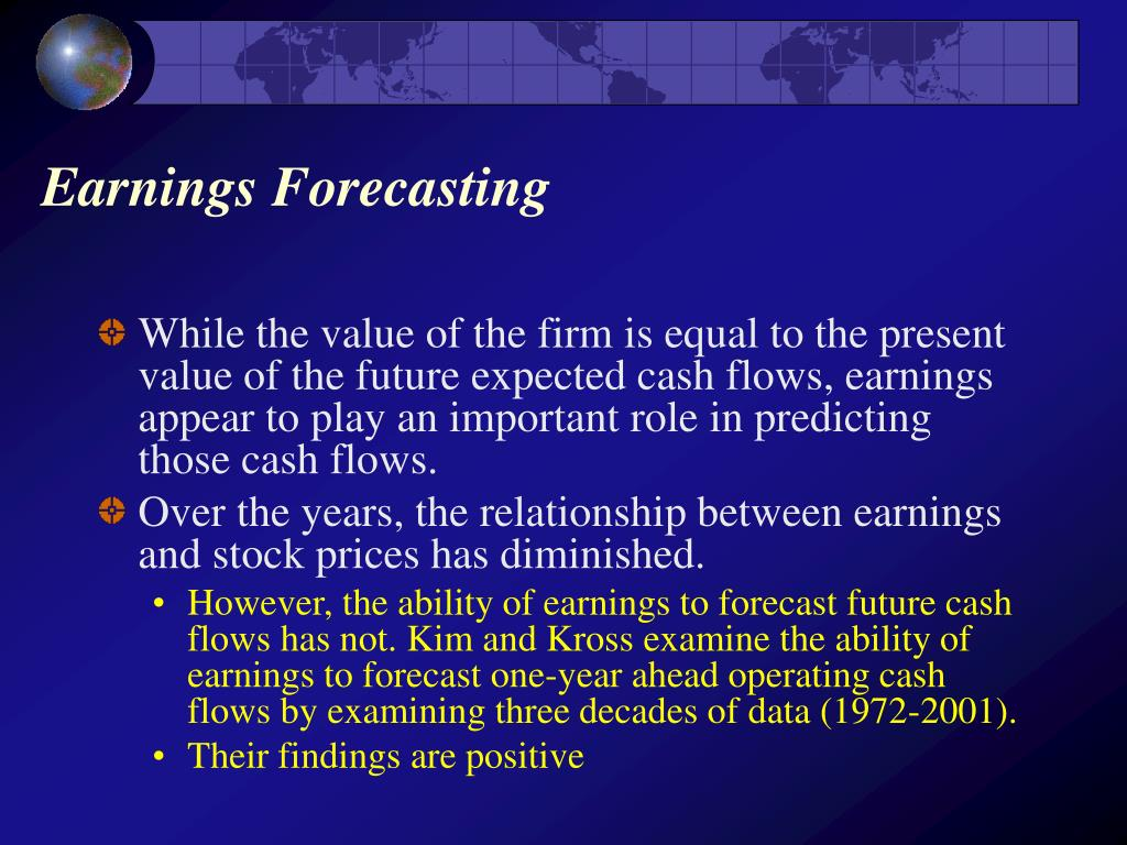 Earnings Forecasting