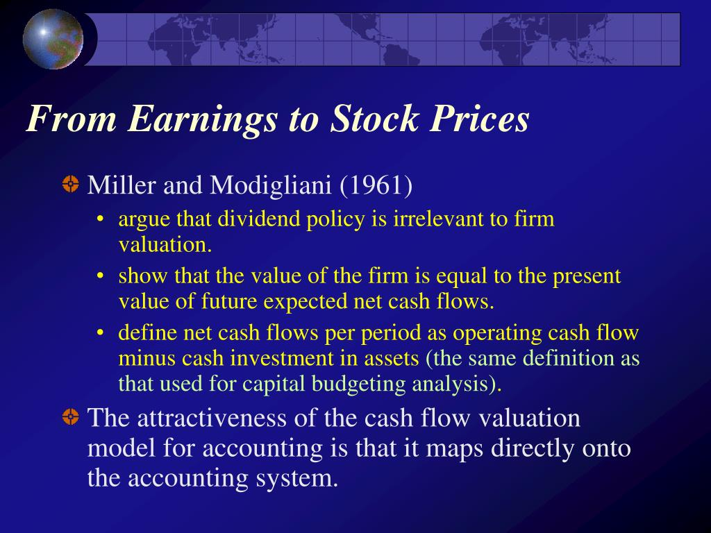 From Earnings to Stock Prices