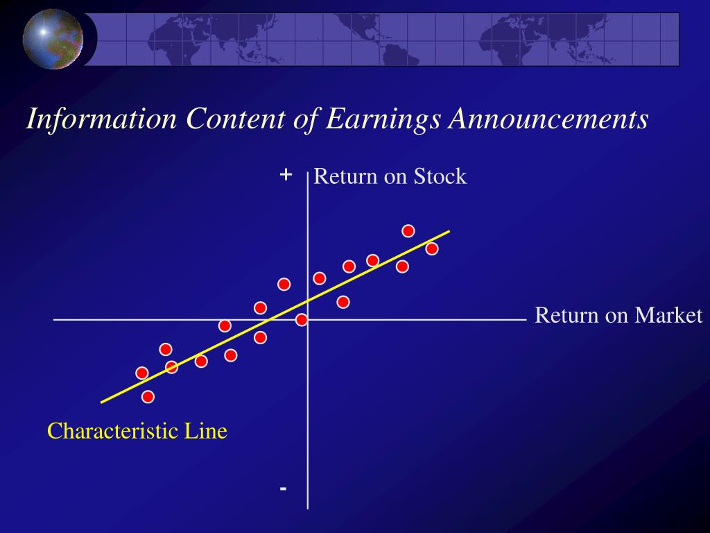 Information Content of Earnings Announcements