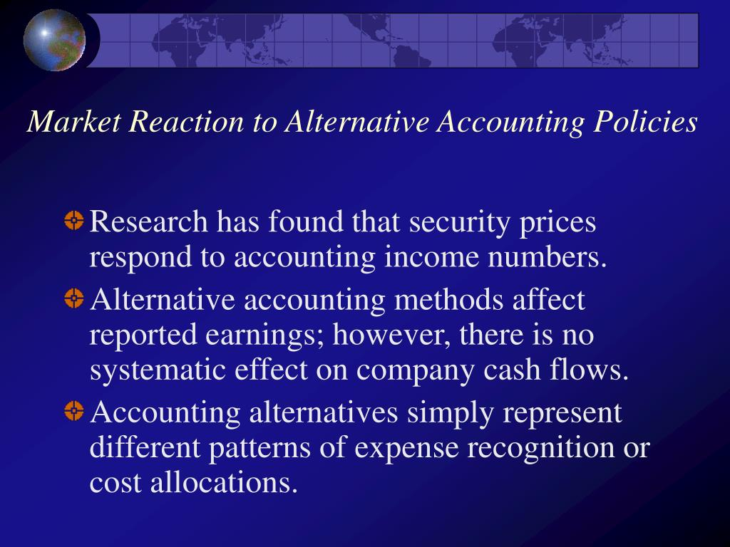Market Reaction to Alternative Accounting Policies