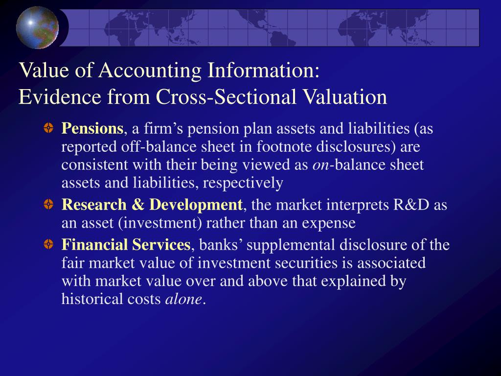 Value of Accounting Information: