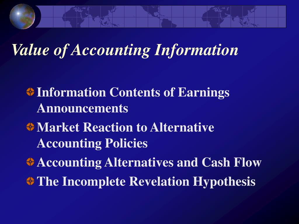Value of Accounting Information