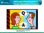 stericycle pharmaceutical waste compliance program