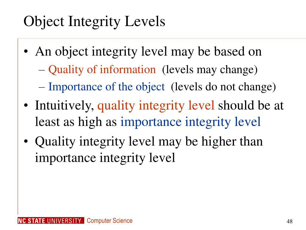Object Integrity Levels