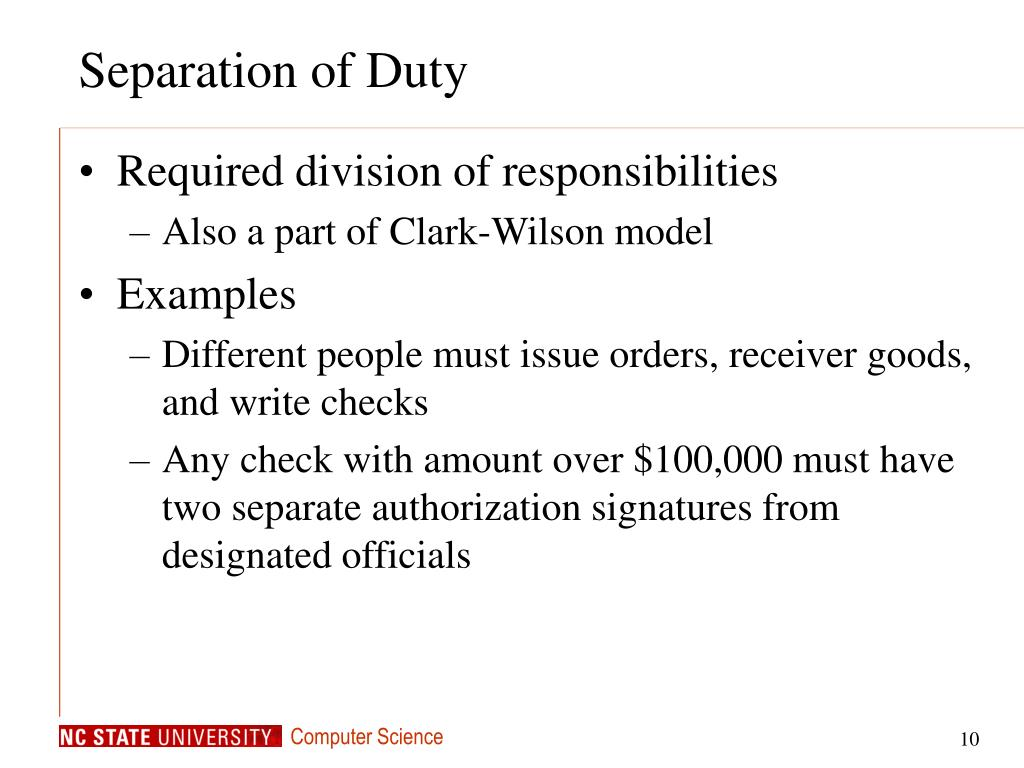 Separation of Duty