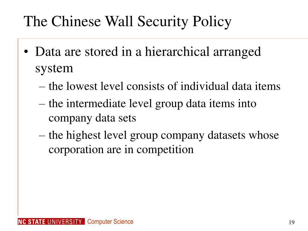 The Chinese Wall Security Policy