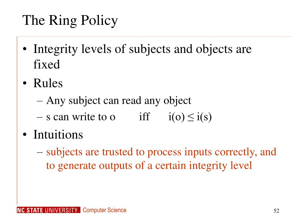 The Ring Policy