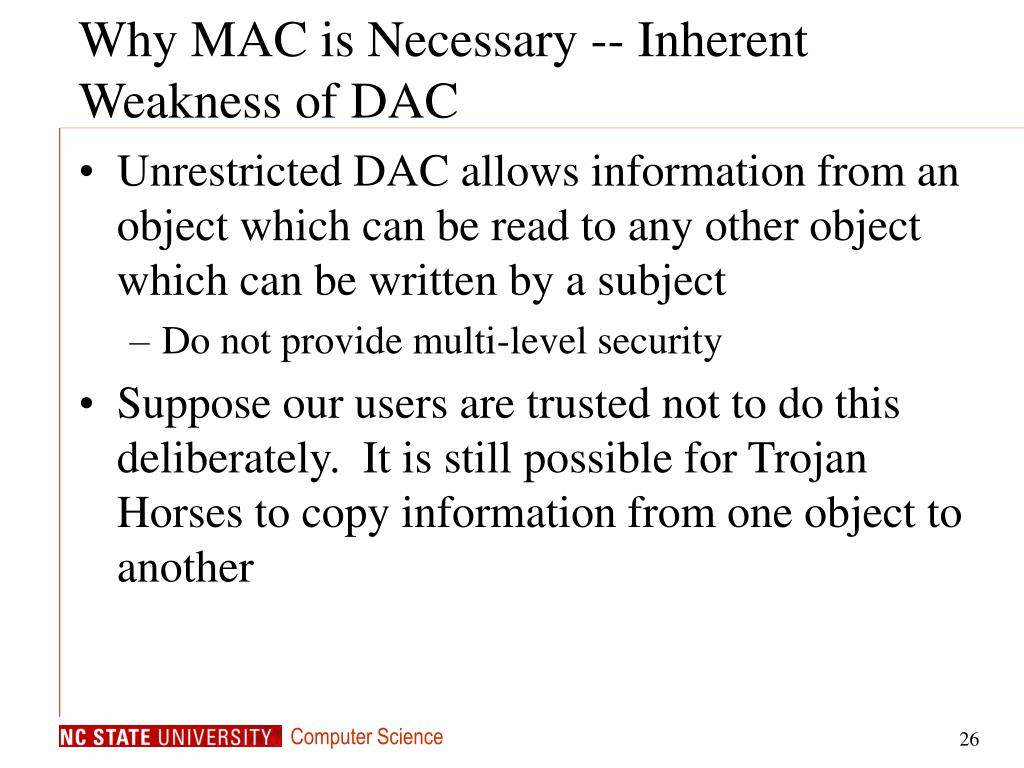 Why MAC is Necessary -- Inherent Weakness of DAC