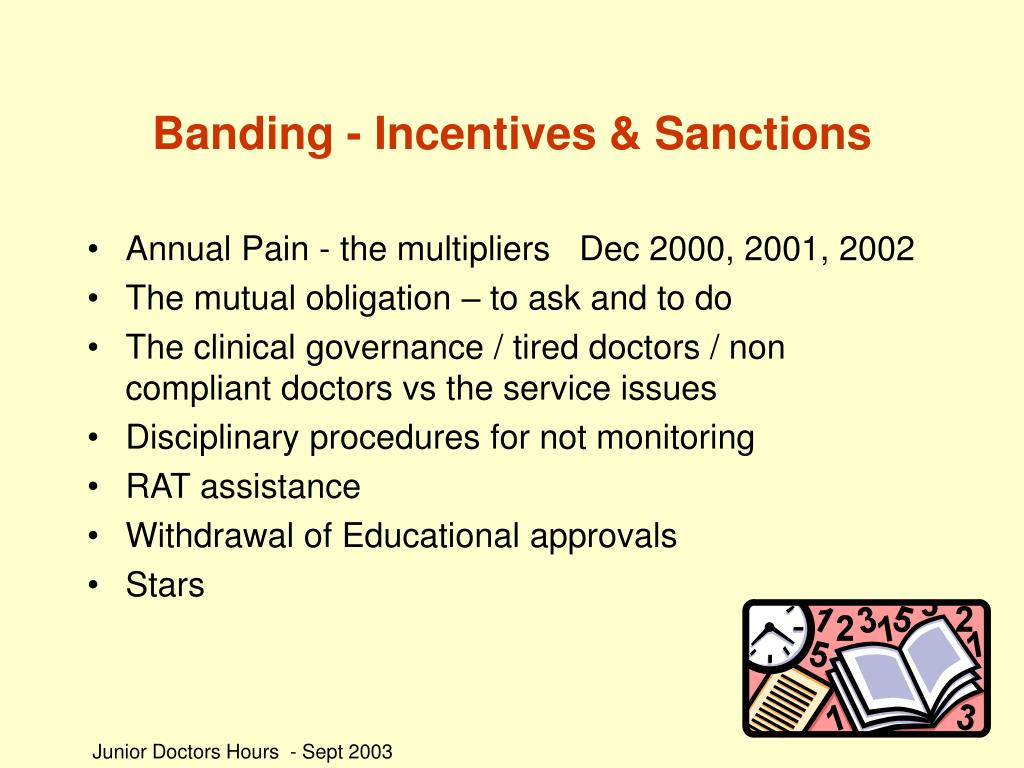 Banding - Incentives & Sanctions