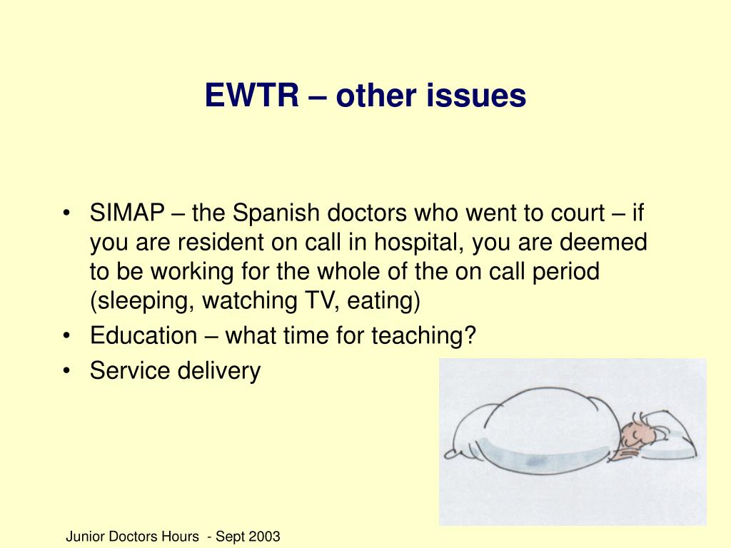 EWTR – other issues