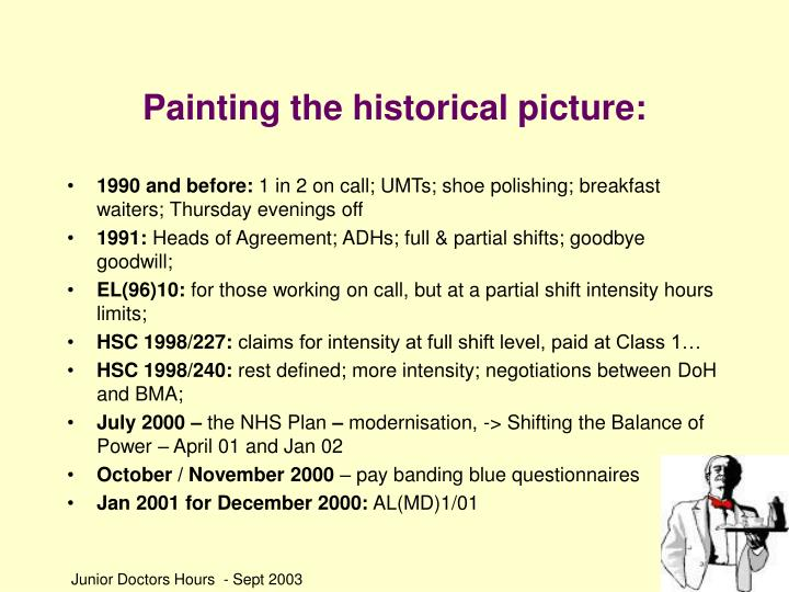 Painting the historical picture
