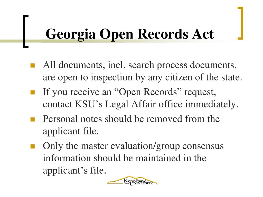 Georgia Open Records Act