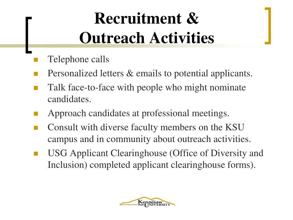 Recruitment &