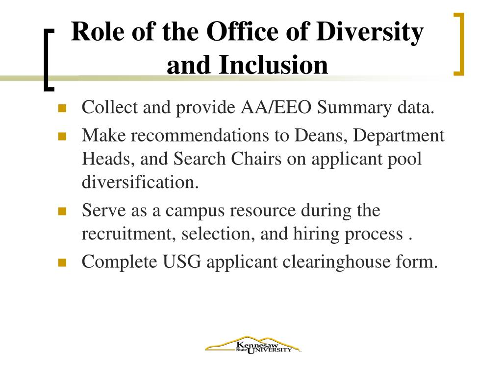 Role of the Office of Diversity and Inclusion
