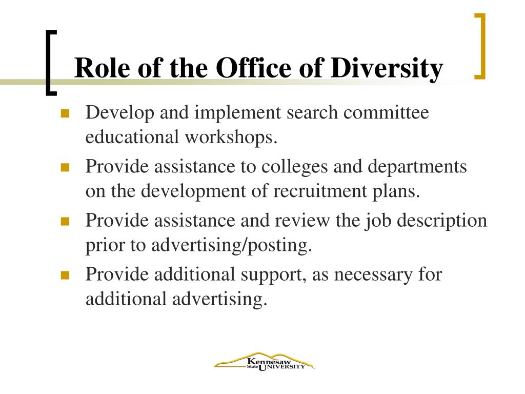 Role of the Office of Diversity