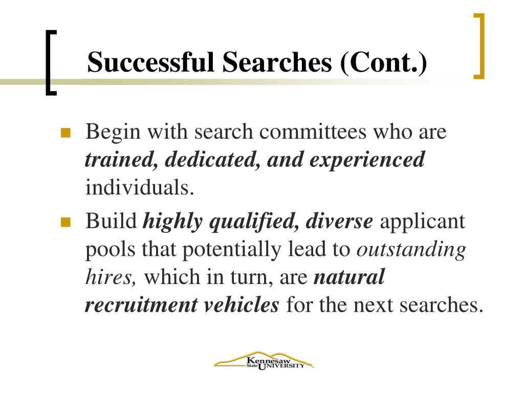 Successful Searches (Cont.)