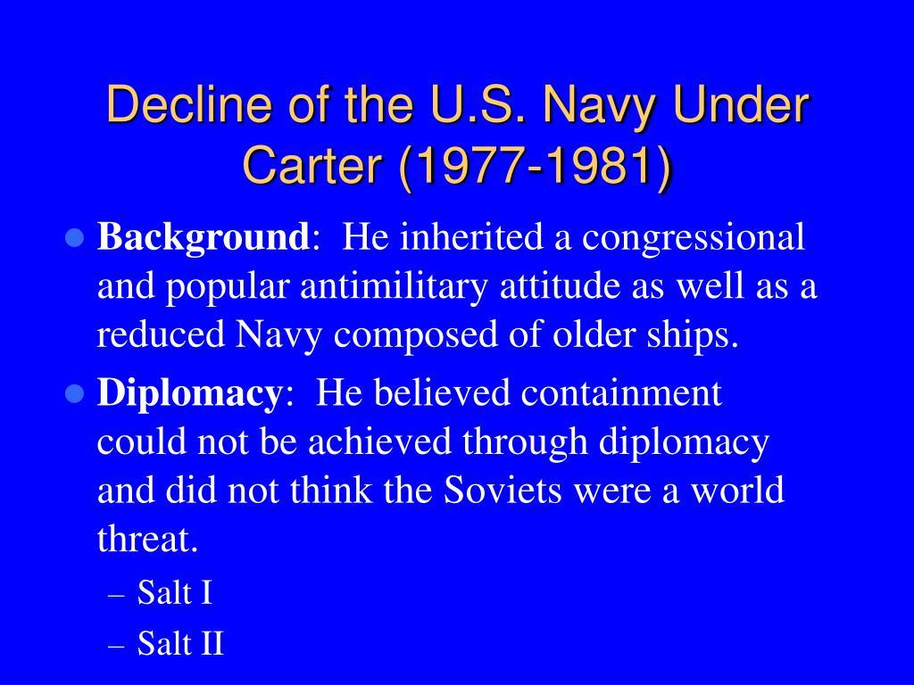 Decline of the U.S. Navy Under Carter (1977-1981)