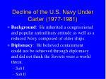 decline of the u s navy under carter 1977 1981